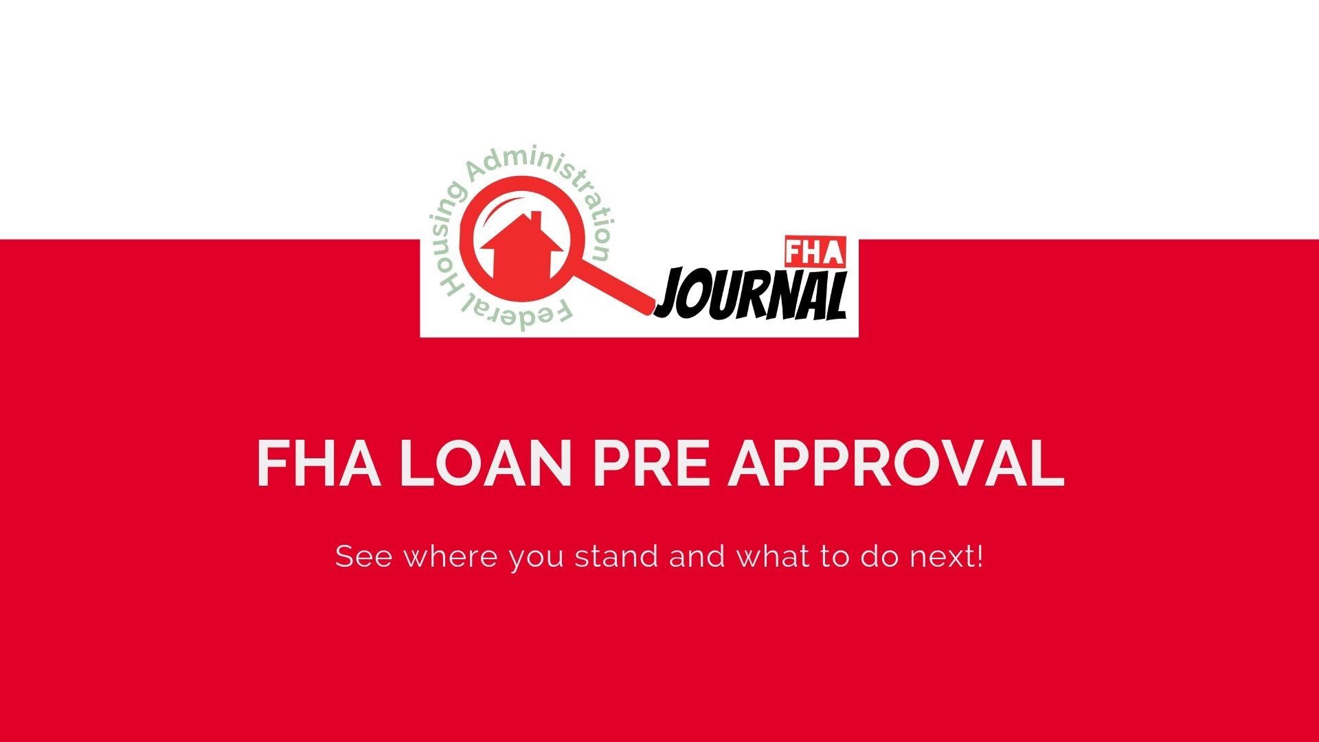 FHA Loan Pre Approval