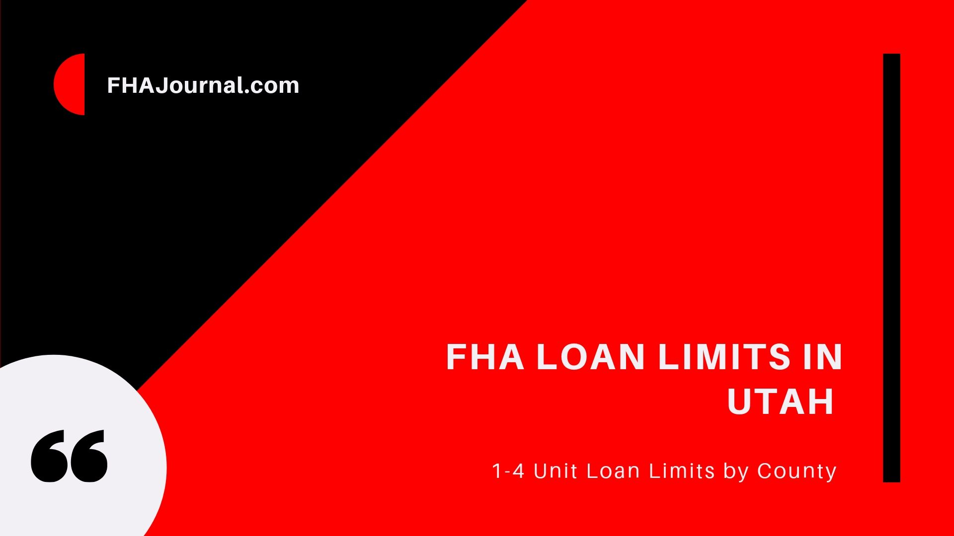 FHA Loan Limits in Utah